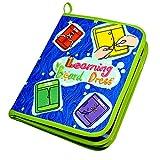 AiSi Kinder Lernspiele Fädelspiel Pädagogisches Lernspielzeug Buch, Schnürsenkel Binden Lernen - Praktische Fähigkeiten Entwickeln - Ideal zum Schleifen Lernen (Blau)