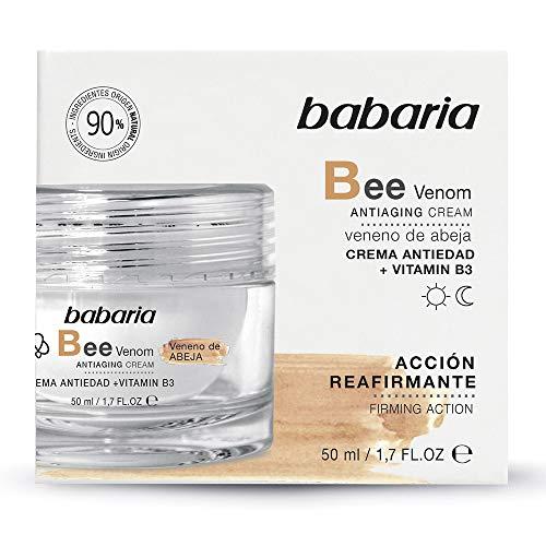 Babaria Crema Reafirmante Antiedad Veneno Abeja con Vitamina B3 50 ml, Negro, Único (31729)