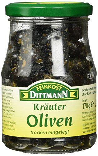 Feinkost Dittmann Kräuter-Oliven trocken eingelegt (1 x 170 g)