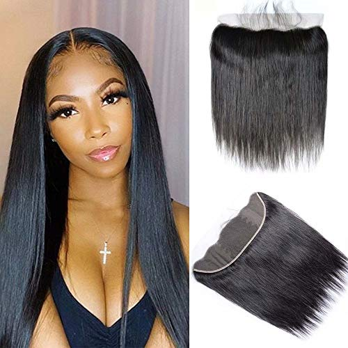 9A Human Hair 100% Unprocessed Brazilian Straight Lace Frontal 13x4 Ear To Ear Lace Frontal Closure Straight Brazilian Virgin Hair(22 inch)