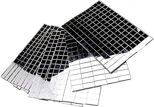 Láminas de mini cristales reales autoadhesivas cuadrados y redondos, 5/10mm, 10x10 mm