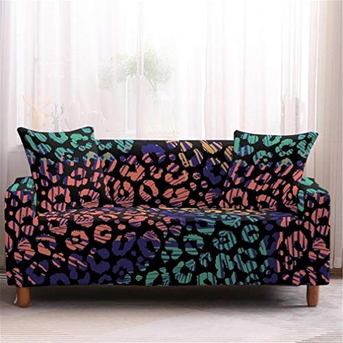 wjwzl Sofaüberwurf für Chaise Longue, rutschfest, elastisch, für Sofas / Bett / Wohnzimmer, S, 4N (2 Sitze)+(3 Sitze)