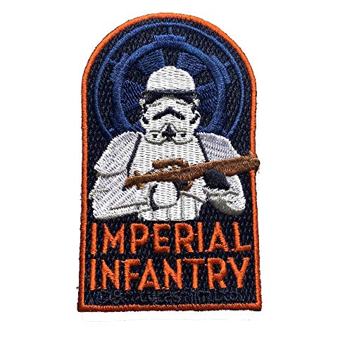 Musterbrand Star Wars Patch Embroidered Unisex Imperial Infantry Multicolore ONE