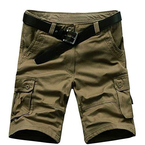 marche Verde Uomini Breve Estate Cargo Uomini Casual Militare Classic Beach Shorts Plus USA Size 29 42 44 46 No Belt Usa Taglia Gy 29W