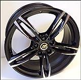 1 AC-MB3 Llantas de Aleación NAD 8 18 5X120 30 72,6 Compatible Con BMW Serie 3 4 5 6 X1 X3 X4 Negro Brillante Diamante