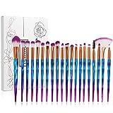 Tenmon Makeup Brushes 20 pcs Unicorn Makeup Brush Set Premium Synthetic Foundation Brush Blending Eyeshadow Blush Concealer Cosmetic Brushes Make Up Brushes Kit (Blue)