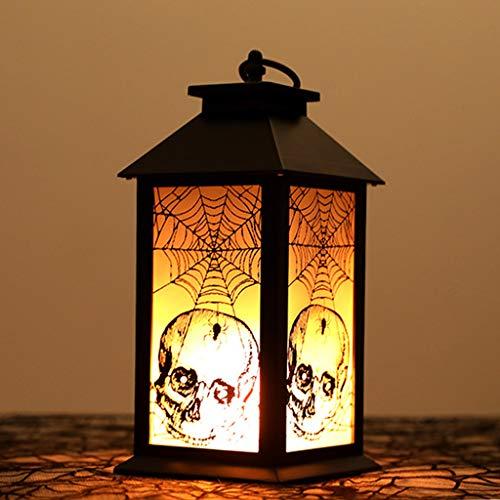 AIPINQI Lámpara de Halloween, simulación de Llama, Esqueleto Colgante, lámpara de Aceite, lámpara de Escritorio, decoración de Halloween, Fiesta, Festival, decoración de Halloween