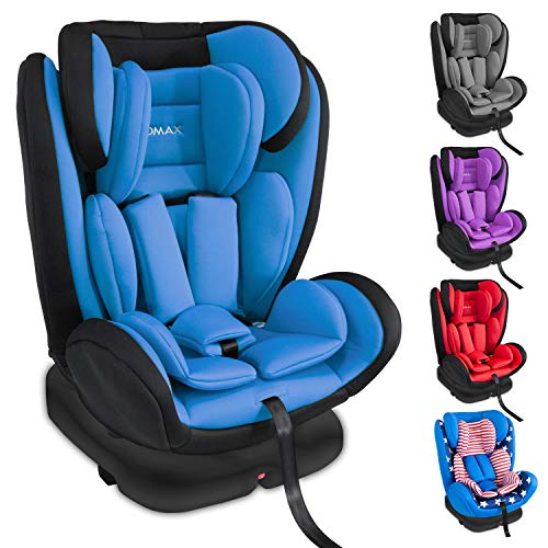 XOMAX KI360 Kindersitz drehbar 360° mit ISOFIX und Liegefunktion I mitwachsend I 0-36 kg, 0-12 Jahre, Gruppe 0/1/2/3 I 5-Punkt-Gurt und 3-Punkt-Gurt I Bezug abnehmbar, waschbar I ECE R44/04
