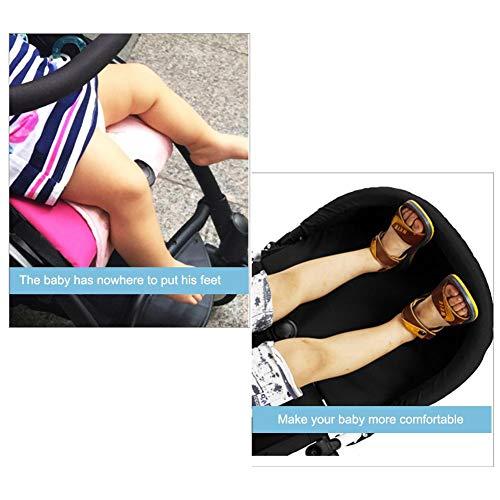 Eternitry Set da Viaggio Passeggino Bracciolo Poggiapiedi con Accessori per Ombrelli Accessori per Poggiapiedi Sedile Rialzato Esteso