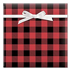 buffalo plaid christmas decor gift wrap