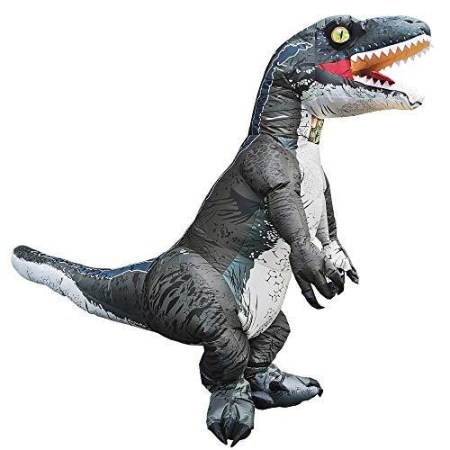 halloween accesorios Disfraz inflable de dinosaurio Velociraptor T REX para adultos, disfraz de cosplay para fiesta, Disfraces de Halloween para hombre y mujer, traje elegante