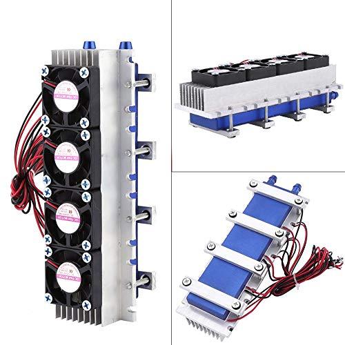 12V 4-Chip TEC1-12706 Kühlung Kühlsystem-Kit Thermoelektrisches Kühlermodul Halbleiter Luftkühlgerät Kühler Kaltleitung