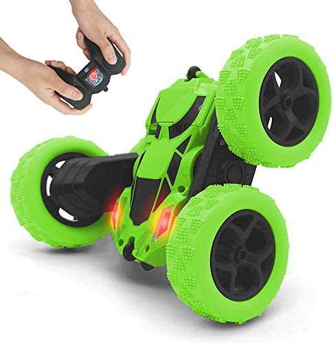 Remote Control car 2 4GHz Race Stunt Car Double Sided 360 Rolling Rotating Rotation LED Headlights product image