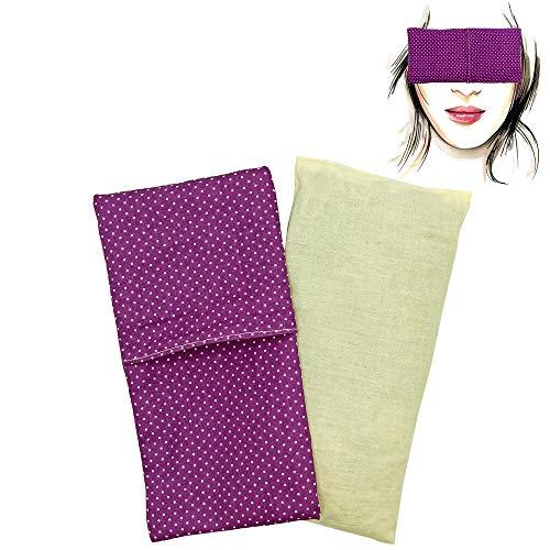 Almohada para los ojos'Lila' (1 relleno y 1 fundas lavables) | Semillas de Lavanda y semillas de arroz | Yoga, Meditación, Relajación, descanso de ojos.