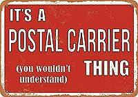 それは郵便運送業者のものです 金属板ブリキ看板警告サイン注意サイン表示パネル情報サイン金属安全サイン