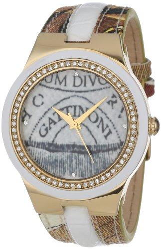 Gattinoni W0223GGTWHT01 - Orologio da polso donna, colore: Beige