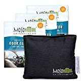 MOSO NATURAL: The Original Car Air Purifying Bag. The Safest Car Air Freshener on the Market. For Cars, Trucks and SUVs. An Unscented, Chemical-Free Odor Eliminator (Charcoal) 300g 3 pack