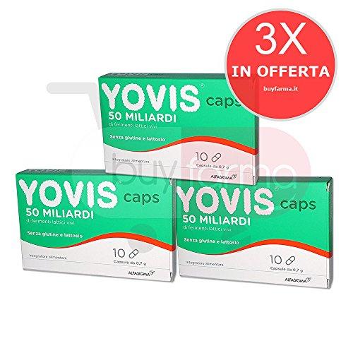 3X YOVIS CAPS - Integratore di Fermenti Lattici Vivi da 50 Miliardi - 30 CAPSULE
