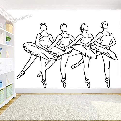 Vinilo bailarina ballet danza estudio estudio diseño etiqueta de la pared