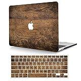 AJYX Funda Dura para MacBook Pro 13 Pulgadas con CD-ROM (Modelo: A1278,Versión 2012 2011 2010 2009 2008), Carcasa Rígida Protector de Plástico Cubierta con Cubierta del Teclado, Grano de Madera