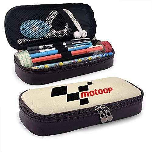Estuche Papelería funcional Bolsas para bolígrafos de alta capacidad Estuche para maquillaje Bolsa para oficina escolar Caja portátil Moto GP