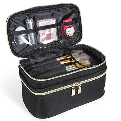 Lifewit Travel Makeup Bag Cosmetic Makeup Train Case Brush Holder Artist Makeup Organizer Professional Portable Storage Bag for Women Girl
