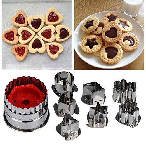 Para tartas cortador para galletas en forma de molde, saingace mezcla azúcar Craft foondant cortador de pastel molde de horno para herramientas