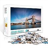 1000 Piezas de Rompecabezas para Adultos o Adolescentes Tower Bridge Classic Puzzle 1000 Piezas Wikipedia Juguetes educativos DIY Gift Fun Game 52x38cm
