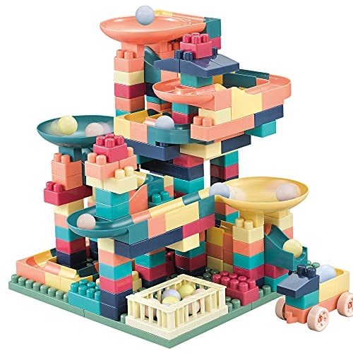 FINXTY Marble Run Building Blocks Set Classic Building Bricks 272 Pieces STEM Kids Building Toys Gift for Boys Girls Age 4 and Up