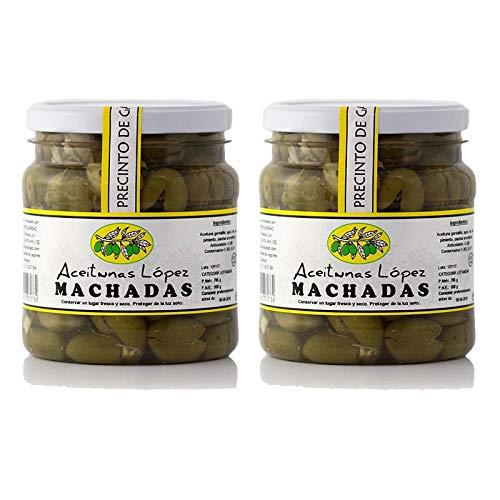 Aceitunas Machadas de Extremadura - Bote de 750 g - Aceitunas Lopez (Pack de 2 botes)