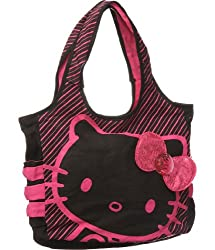 This Hello Kitty handbag is one of my faves  The black and pink with pink  sequins is super cute. We love the contrast of the two colors and how