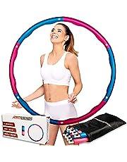 ActiveVikings Hoelahoep, ideaal voor fitness, gewichtsvermindering en massage, 6-8 segmenten, afneembaar, banden voor volwassenen en kinderen