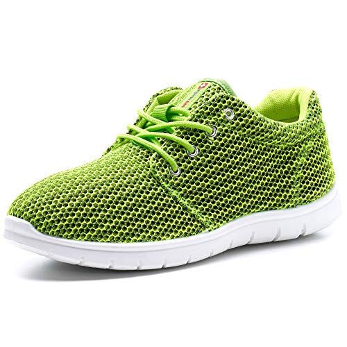 Alpine Swiss Kilian Fashion Sneakers Lightweight Trainers Lace Up Casual Shoes, 8 D(M) US, Lime