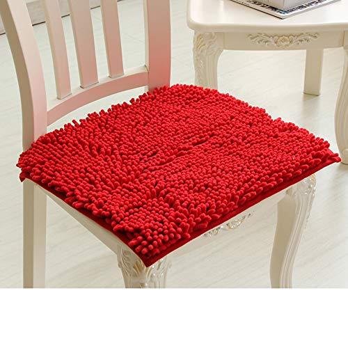 Sneeuwkraag in de bekleding, zachte kussens, hoofdkussen voor bureaustoelen, stoel, eettafel, dik, 50 x 50 cm