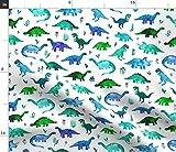Dinos, Dinosaurier, Wasserfarben, Muster, Tiere Stoffe -