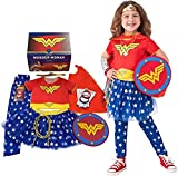Rubie's Imagine Girl's Wonder Woman Dress-Up and Super Hero Play Trunk, Multi-Costume Role Play, Small