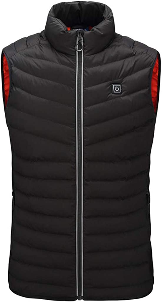 Heated Vest for Mens, F_Gotal Men's Lightweight Insulated Electric Heated Vest Adjustable USB Sports Waistcoat Vest