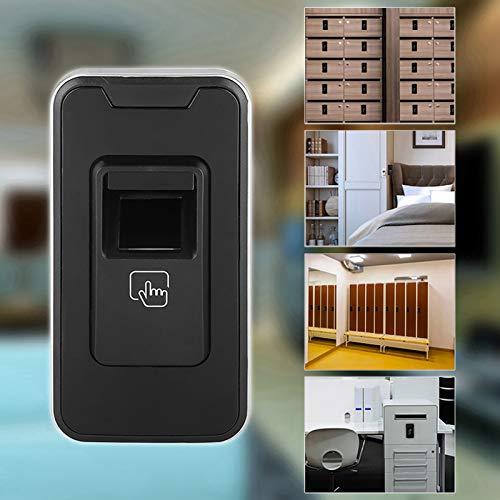Bloqueo de huella digital, bloqueo de tipo de aprendizaje inteligente cerradura antirrobo del gabinete de la oficina, modo de desbloqueo doble, adecuado para gimnasio, armario, cajón, gabinete