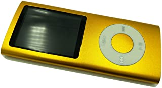 Mp3 Player, Portable 8GB MP4 Player 8 Colors FM Video 4 TH MP3 Player Music Player 1.8' Screen E-Book,Gold