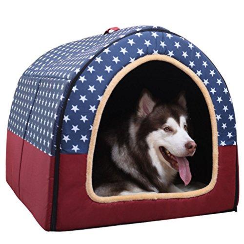 QYJpB 2 In 1 Haustier Haus Und Sofa, Große Hundehütte Abnehmbar Und Waschbar Haustier Nest Medium Hund Hundehütte Indoor Und Outdoor Net Rote Katzenhaus - Pet Nest (Farbe : Rot, größe : XXL)