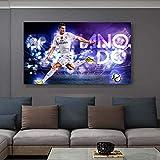 KWzEQ Jugador de fútbol Mural Lienzo póster e impresión Mural Imagen Sala de Estar decoración del hogar,Pintura sin Marco,40x70cm
