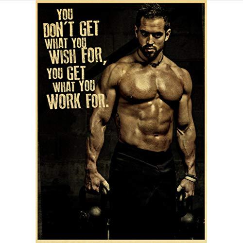 yitiantulong Impresión En Lienzo Arnold Schwarzenegger Poster Bodybuilding Fitness Gym Workout Poster Pintura Arte De La Pared para La Decoración De La Sala De Estar R-691 (50X90Cm) Sin Marco