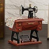 idalinya Caja de Costura de música de Costura de cumpleaños, Mini Caja de música Retro, Caja de música mecánica, para niños para Recuerdo de decoración del hogar