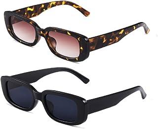 Long Keeper Occhiali da sole rettangolari UV400 protezione occhiali da guida retrò per le donne