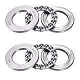 51105 Single Direction Thrust Ball Bearings 25mm x 42mm x 11mm Bearing Steel(2 Pcs)
