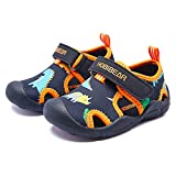 ASHION Toddler Water Shoes Boys Girls Quick Dry Sport Sandals Kids Outdoor Beach Black/Orange