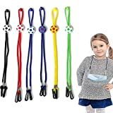 6Pcs Adjustable Face Mask Lanyard for Kids with Clips Breakaway Multifunction Facemask Lanyard for School...