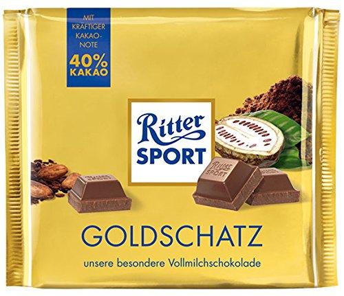 11x Ritter Sport - Goldschatz, Vollmilchschokolade, 40% Kakao - 250g