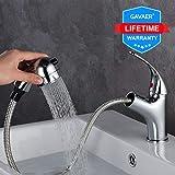 GAVAER Waschtischarmatur, Elegant Wasserhahn Bad mit Herausziehbarer Dual-Spülbrause,...