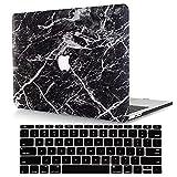 ACJYX Compatible con MacBook Pro de 13 pulgadas 2015 2014 2013 2012 modelo A1502 y A1425, carcasa rígida de piel sintética con cubierta de teclado para Mac Pro Retina 13 - mármol negro